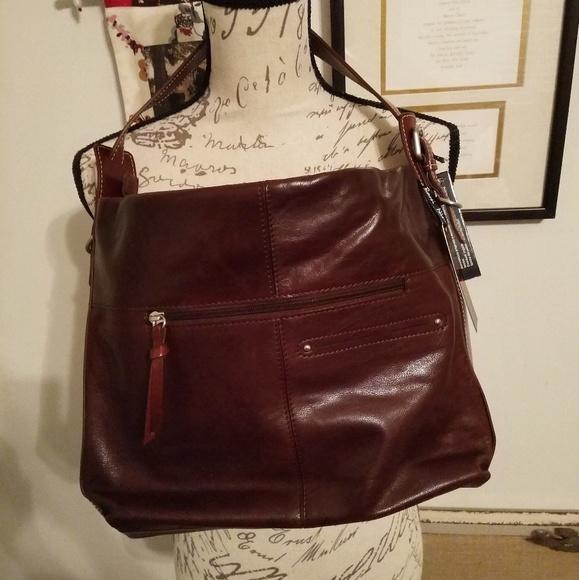 NWT Nino BOSSI Hobo Shoulder Bag 0fc9356bc37ac